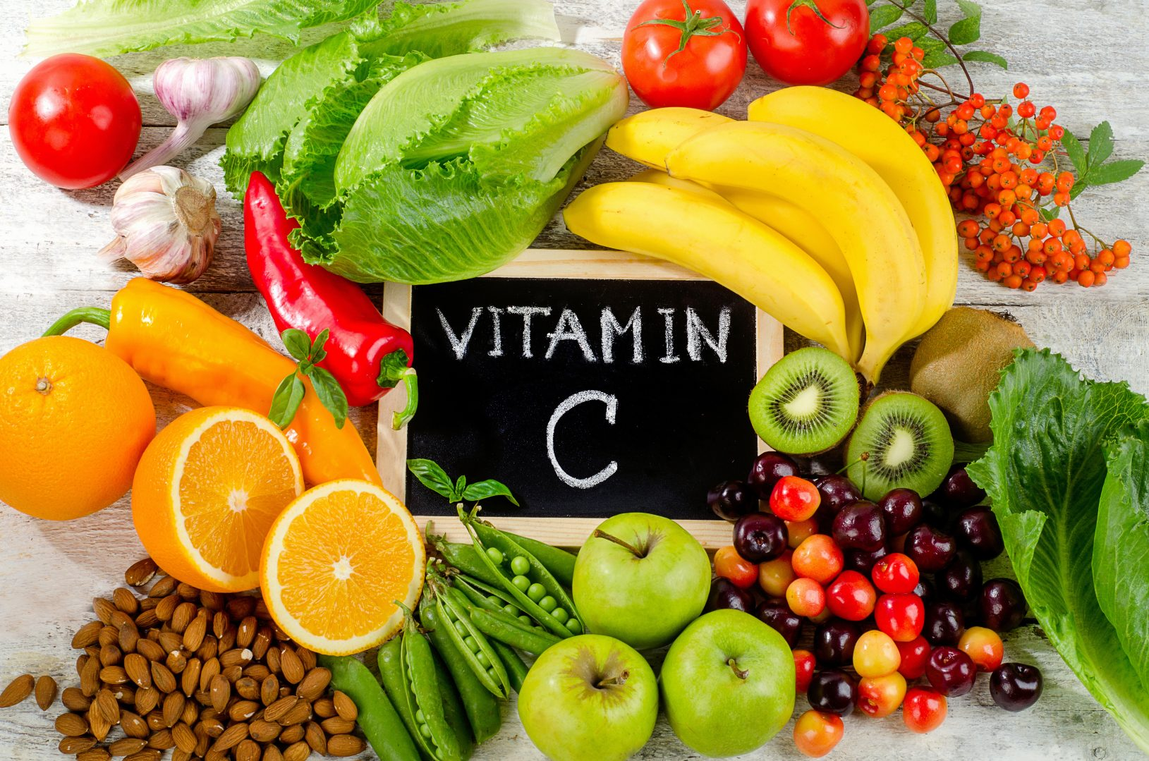 Alimentos y suplementos de vitamina C